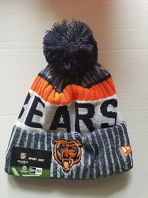 483e4765f8d27 ... buy chicago bears new era nfl sport knit cuffed hat with pom on field  a2295 c1d79