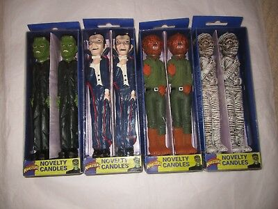 Universel Monsters Novelty 9'' Candle Set Dracula Wolfman Mummy Frankenstein NEW