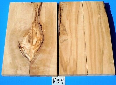 2 Pairs Knife Scales~Italian Olive Wood Knife Blank Scales~Exotic Wood Lumber