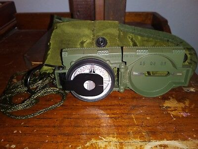 CAMMENGA MAGNETIC Model 3H Compass/Carrying Pouch, Army Green, Barely Used.