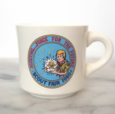 1980 Vintage Scout Fair Boy Scouts Mug Made in USA Collectible 80's vtg Camp Cup