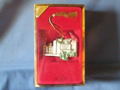 LENOX China 2002 From Our Home To Yours Christmas Tree Ornament Bx Mailbox Bird