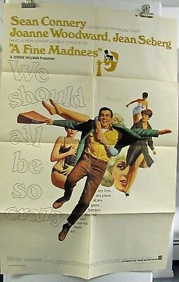 A Fine Madness Sean Connery original folded American one-sheet movie poster