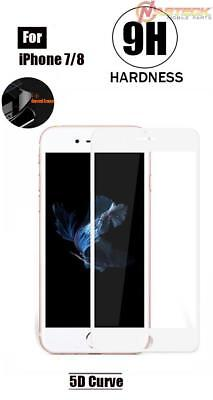 Tempered Glass - 5D Curve (White) For iPhone 8