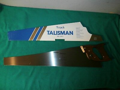 """Tyzack Turner Talisman No. 660, 24"""" Blade, 7 Point Hand Saw  **  New Old Stock"""