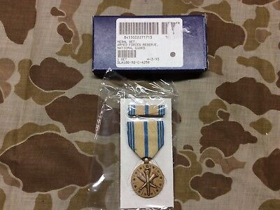 Armed Forces Reserve Army National Guard Medal and Ribbon Set GI BRAND NEW Issue