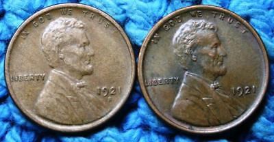 1921  P    S   Lincoln  Wheat   Cent  Higher Grade  LQQK!!!     2 Coin Year Set