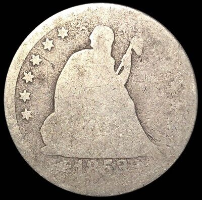 1853-O Seated Liberty Quarter New Orleans Silver 25c (Q104)