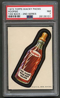 1973 Topps Wacky Packages Poopsie PSA 7 TB 2nd Packs