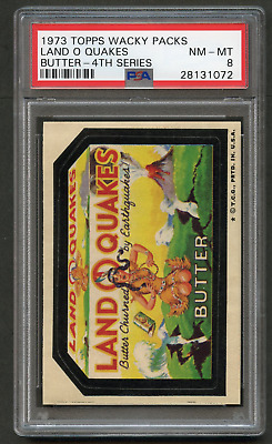 1973 Topps Wacky Packages Land O Quakes PSA 8 TB 4th Packs