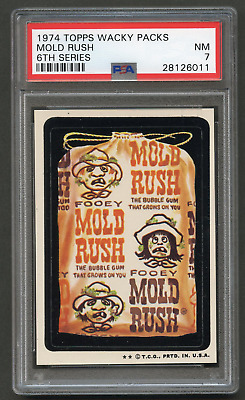 1973 Topps Wacky Packages Mold Rush PSA 7 TB 6th Packs