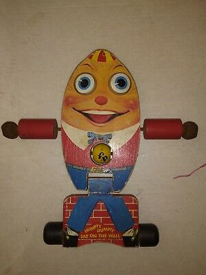 Vintage FISHER PRICE 1957 HUMPTY DUMPTY  about MINT