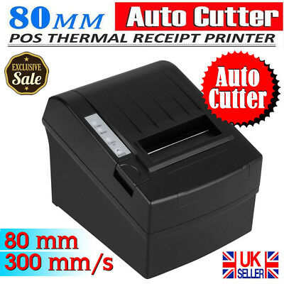 300mm/s 80mm ESC/POS Thermal Dot Receipt Printer Auto-CUT Cutter USB Ethernet