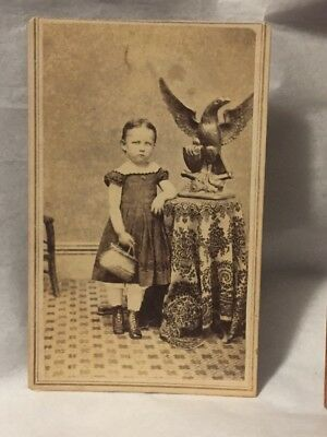 Victorian photo card beautiful young girl John Esmay Sabula Iowa photographer