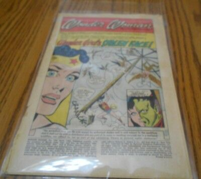 Vintage Comic Wonder Woman, Wonder Girls Stolen Face by Charles Moulton 1965