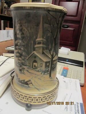 Vintage 1957 Econolite 766-7 Church Snow Scene Motion Lamp