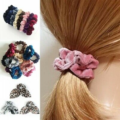 Velvet Scrunchies For Hair - 5 Pack Velvet Hair Scrunchie Elastics Hair Ties