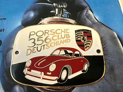 PORSCHE 356 CLUB DEUTSCHLAND targhetta placca car grill badge emblem logos