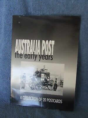 Australia Post The Early Years Collection Of 20 Postcards Book  Vintage Retro