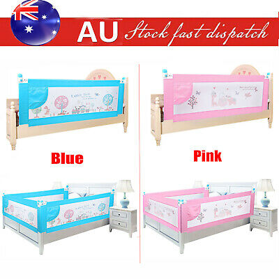 180cm Safety Baby Bedrail Child toddler Kids Bed Rail Cot Guard Protection Blue