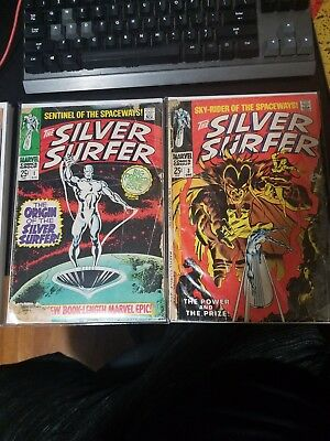 The silver surfer 1, silver sufer 3  the first apearence of mephisto  first solo