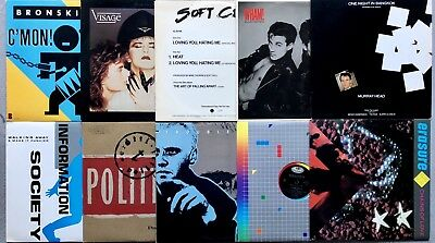 "Lot Of 10 New Wave 80's Synthpop Dance Vinyl Record 12"" Singles WHAM SOFT CELL"