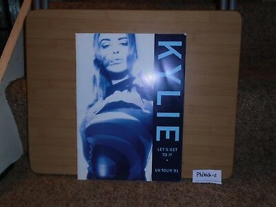 Kylie Minogue Let's Get To It Uk Tour 1991 Concert Programme