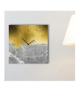 Wrought Studio Confer Analogue Wall Clock Gold/Silver Ombre 30cm x 30cm