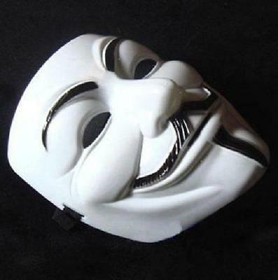 New Anonymous Mask V For Vendetta Costume Collectors Proper White
