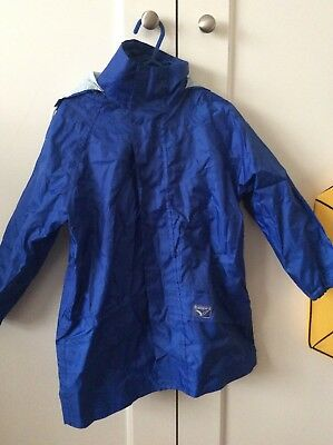 Rainbird Kids Preps Raincoat Spray Jacket Royal Blue Size XS 4-5