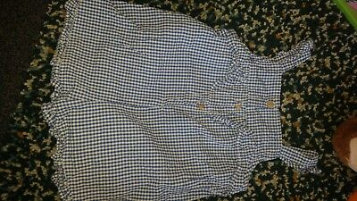 Zara girls Gingham blue and white Checked Romper 12-18 Months