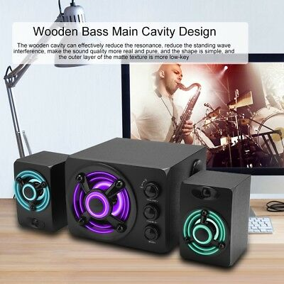 Multimedia Bluetooth Computer PC Speaker System W/ Subwoofer USB Stereo Sound