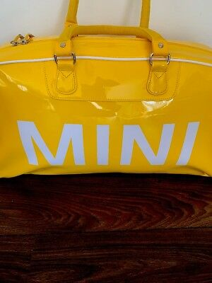 Bmw Mini Cooper Duffle Bag Tasche Lackmaterial In Yellow Gelb Rar