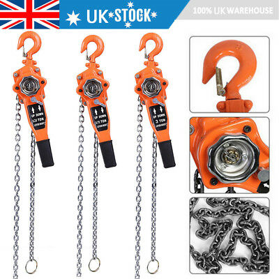 0.75-3Ton 3M/9FT Ratchet Chain Lever Lift/Crank Chain Hoist Block/Puller Lifting