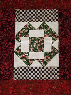 MY OWN Christmas Fabric Table Runner with MacKenzie-Childs Cloth Napkin - Red