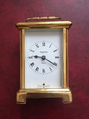French Duverdrey & Bloquel for Bayard 9 Jewel 8 Day Carriage Clock, Needs Repair