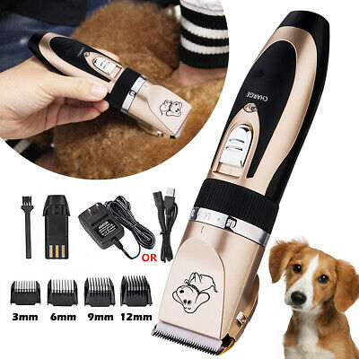Professional Pet Cat Dog Clipper Grooming Electric USB Rechargeable Trimmer Kit