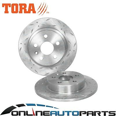 2 x Rear Slotted & Dimple Drilled Disc Brake Rotors Holden Cruze JG JH 2009~2015