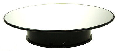 Large Rotary Display Stand Approx 10 Inch 25Cm Mirrored Surface Battery Powered