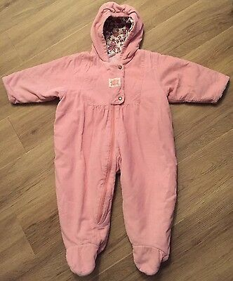Vintage Retro Boots Snowsuit Snow Suit All In One 6-12 Months Pink