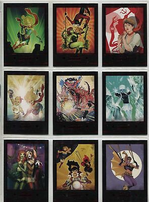DC Comics Bombshells 2 Complete New Covers Chase Card Set C1-9