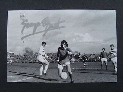 1970 FA CUP NORTHAMPTON TOWN v MANCHESTER UNITED GEORGE BEST SIGNED PHOTOGRAPH