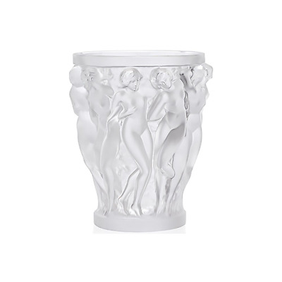 GENUINE LALIQUE Bacchantes Vase Clear Bacchus Nudes Sculpture (10547500)