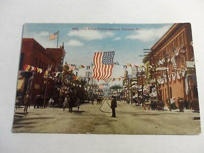 early 1900s postcard [day before frontier carnival cheyenne wyo.]