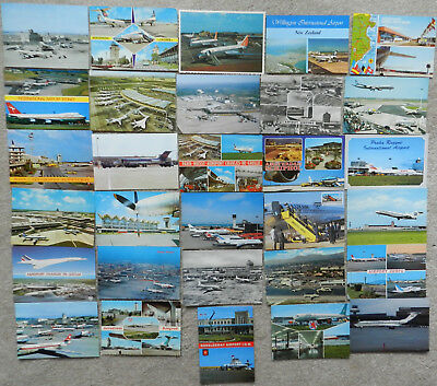 30 x MIXED AIRPORT POSTCARD LOT