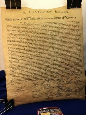 Declaration of independence Replica Aged Parchment NEW