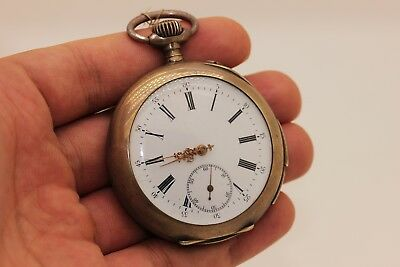 Antique Original Perfect Silver European Repeater Pocket Watches