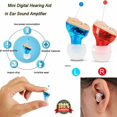 Mini in Ear Hearing Aid Invisible Digital CIC Sound Voice Amplifier Ear Aids GY