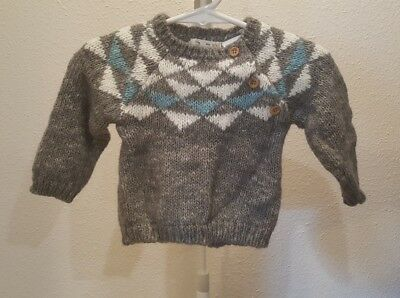Zara Mini Collection Baby Sweater 69 Months Grey 1146 Picclick