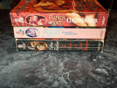 Colleen Faulkner lot of 3 historical romance paperback